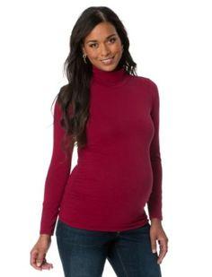 Motherhood Maternity: Long Sleeve Turtleneck Side Ruched Maternity T Shirt Motherhood Maternity. $9.99