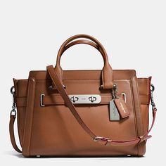 Coach swagger in burnished glovetanned leather 20d0bee07edf0