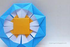 mas origami: Escarapelas argentinas de origami 2017 Origami Quilt, Pop Up, Diy Fan, Origami Tutorial, Artsy Fartsy, Mandala, Paper Crafts, Quilts, Collages