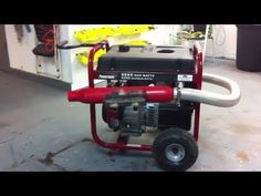 How to make your generator quiet,powermate generator - YouTube