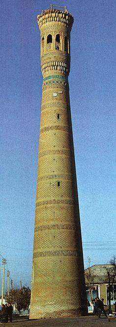 The Vabkent minaret 1196-98 Photography: Erdinç Bakla.