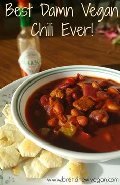 Best Damn Vegan Chili | What Texas Style Vegan Chili is SUPPOSED to be. Thick, rich. and spicy. This may in fact just be the best damn vegan chili you've ever had! | www.brandnewvegan.com