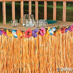 Hibiscus Table Skirt $13.99
