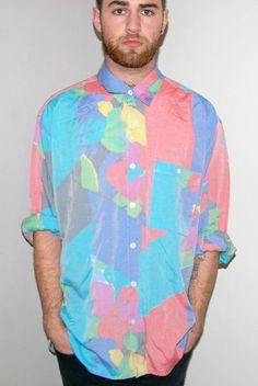 Vintage L/S Mutli-coloured Summer Shirt / CMBK (£16.00) - Svpply