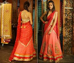Designer Half Saree by Bhargavi Kunam