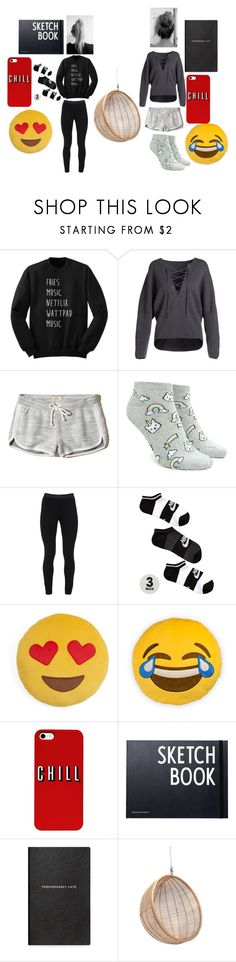 """""""Lazy Easter Break"""" by frannie1242 ❤ liked on Polyvore featuring Vince, Hollister Co., Forever 21, Peace of Cloth, NIKE, Throwboy, Design Letters and Smythson"""