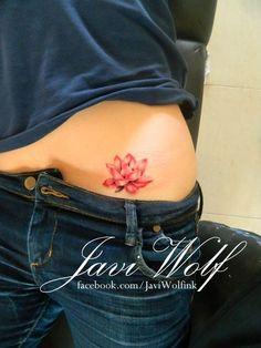 Lotus flower tattoo Tattooed by Javi Wolf
