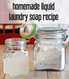 Homemade Liquid Laundry Soap Tutorial