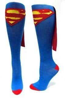 Superman Supergirl DC Comics Justice League Superhero Jr Knee Socks with Cape | eBay