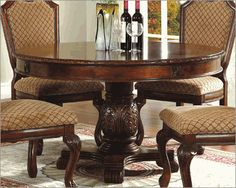 Round Pedestal Dining Table in Classic Cherry MCFD5006-5454
