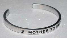 Mother To Be!  | Engraved not Hand Stamped  #Handmade #Cuff