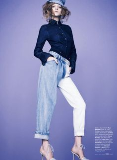 blue state: caterina ravaglia by bruno staub for us elle may 2013