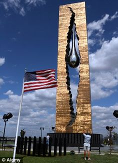 The Teardrop monument in New York...a donation from Russia for the grief of 9/11.  Why did I never hear about this?