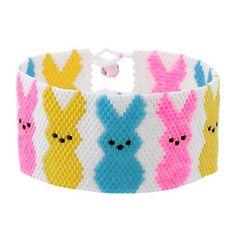 Beaded Bracelet  PATTERN  Fusion Beads   Band of Peeps Easter