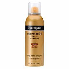 Neutrogena Sunless Tanning Spray Micro Mist, Medium
