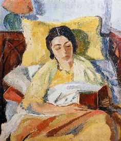 Woman Reading by Cecil Higgs
