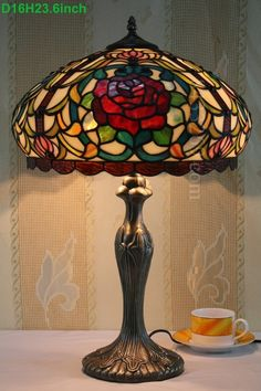 Rose Tiffany Lamp 16S0-28T311