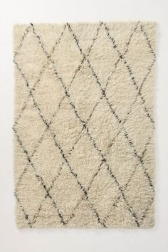 Flokati Diamonds Rug - Anthropologie.com