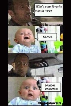 best Ideas for funny baby jokes hilarious laughing The Vampire Diaries, Damon Salvatore Vampire Diaries, Vampire Diaries Poster, Vampire Diaries Wallpaper, Vampire Diaries The Originals, Funny Baby Jokes, Baby Memes, Memes Funny Faces, Really Funny Memes