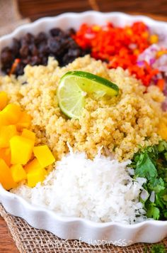 Mango Coconut Quinoa Salad - my go-to make ahead lunch salad! So flavorful and so good!
