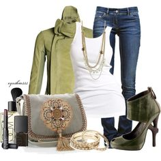 Sage and Silver, created by cynthia335 on Polyvore