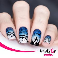 Whats Up Nails - Halloween Stamping Plates 2 pack Stamping Plates for Nail Art Design, Flower Nail Designs, White Nail Designs, Diy Nail Designs, Halloween Nail Designs, Nail Designs Spring, Halloween Nail Art, Halloween Clown, White Nail Art, White Nails