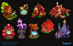 Grimm Reaper: Hidden Tales - new decorations by ~doingwell on deviantART