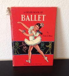 Vintage Children's Book Ballet Violet La Mont 1953 50s Dance