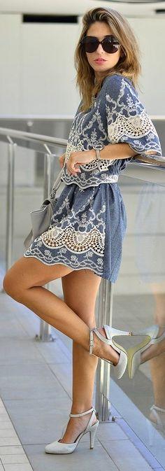 Ma Petite By Ana Romantic Lace Summer Skirt Set