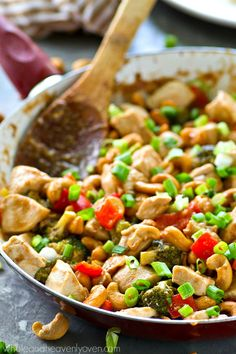 Forget about that takeout! Cashew chicken is SO easy and so much healthier to…