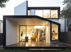 An articulated two-storey framed volume is sensitively stitched to the rear original fabric, while retaining its front Federation masonry and hipped envelope...