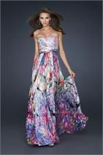 #LaFemme 17735 multi color prom dress #promdress #FormalApproach #prom