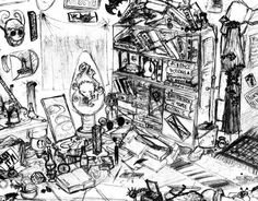 messy room by psychoafro