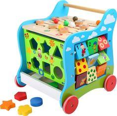 Chodzik wielofunkcyjny pchacz 5w1 - centrum edukacyjne. Inne zabawki edukacyjne na www.kidsabc.pl