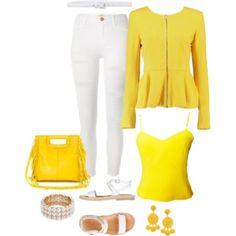 Yellow Peplum Blazer