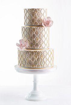 Bolos metalizados incríveis, para o seu casamento ou noivado!