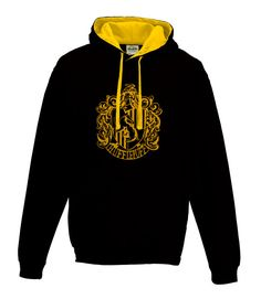 Harry Potter inspired Hufflepuff House Hoodie in Black and Gold