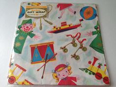 Vintage Gift Wrapping Paper Juvenile Kid's by TheGOOSEandTheHOUND