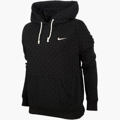 Womens Nike Rally All Over Dot Pull Over Hoodie
