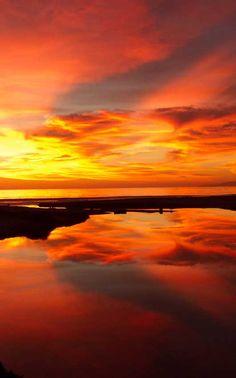 Sunset at Carpinteria State Beach, California (just outside Santa Barbara)  Photo: Craig Taylor