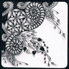 Beautiful zentangle with lots of white space