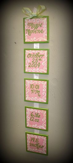 Can recreate with Publisher, ribbon, wood blocks, fancy paper, and mod podge