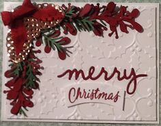 Christmas Projects, Christmas Holidays, Christmas Wreaths, Merry Christmas, Xmas, Stamped Christmas Cards, Holiday Cards, Holiday Decor, Stamping Up Cards