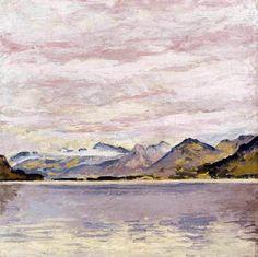 Koloman Moser - Wolfgangsee mit tiefem Horizont