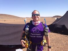 Paul Bowker at the start of the gruelling Marathon des Sables in the Sahara he ran for Pancreatic Cancer Action and Backup Trust. Paul finished an amazing 489th out of 1030 and has raised over £30,000! #pancreaticcanceraction #PCAction #fundraising