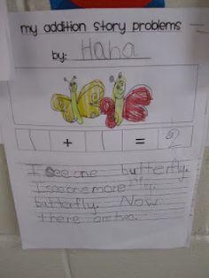 Addition and subtraction word problems - class books Math Classroom, Kindergarten Math, Teaching Math, Teaching Resources, Maths, Classroom Ideas, Kindergarten Addition, Teaching Ideas, Preschool