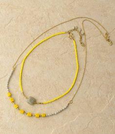 ピープル・ツリー キューブガラスビーズ ネックレスセット / cube glass necklace on ShopStyle