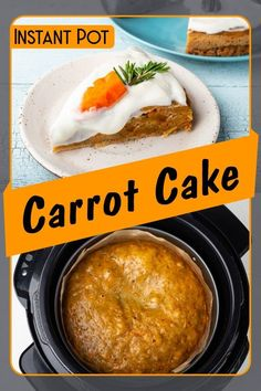 Carrot cake is fluffy and scrumptious and you can make it easily on your Instant Pot!The bits of carrots in it make the taste really special, something else than the classic cheesecake or chocolate cake. Perfect for your sweet cravings.    You can use a glaze of cream cheese and decorate with baby carrot, pecan nuts and rosemary.