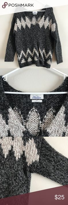 Madewell Wallace V Neck Fair Isle Sweater Size Medium Madewell Wallace V Neck Fair Isle Sweater. Drop shoulders, light pilling, in excellent condition. Madewell Sweaters V-Necks