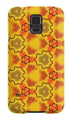"""Texture yellow ""Abstract geometry"" "" Samsung Galaxy Cases & Skins by floraaplus 